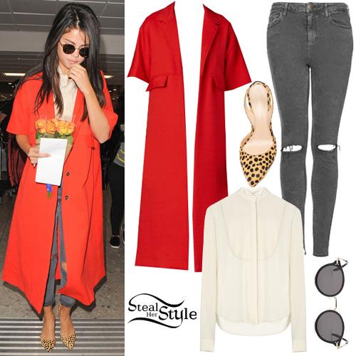Selena Gomez arriving at  Heathrow Airport in London. September 20th, 2015 - photo: FameFlynet