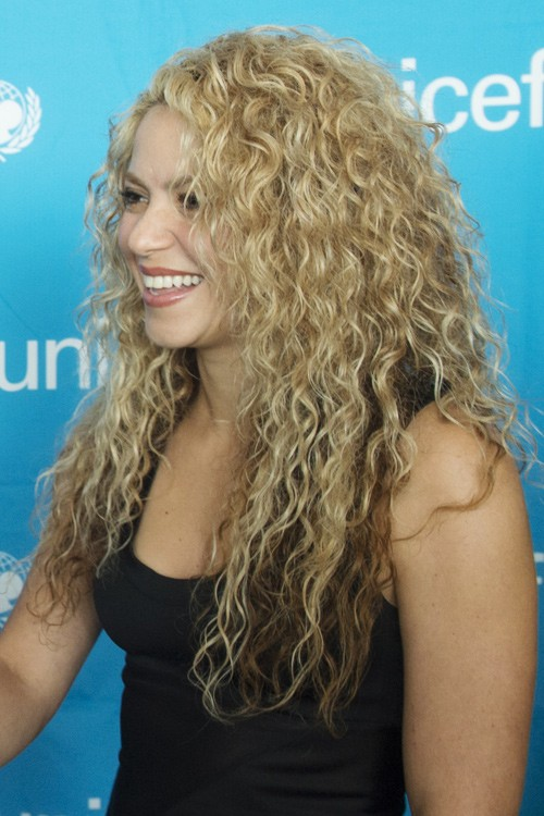 Long Blonde Natural Curly Hair