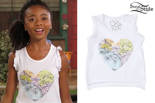 Skai Jackson: Heart Map Tank Top