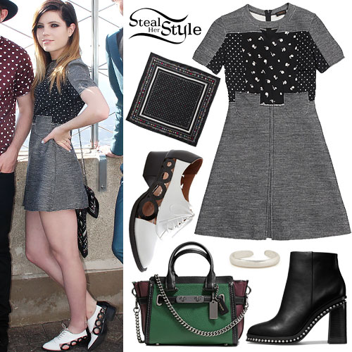 Sydney Sierota: Gray Textured Dress