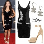 Tinashe: Sequin Dress, Lock Sandals