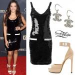 Tinashe: Sequin Dress, Lock Sandals