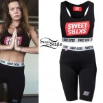 Tove Lo: Sports Bra, Biker Shorts