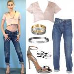 Amanda Steele: Satin Top, Boyfriend Jeans