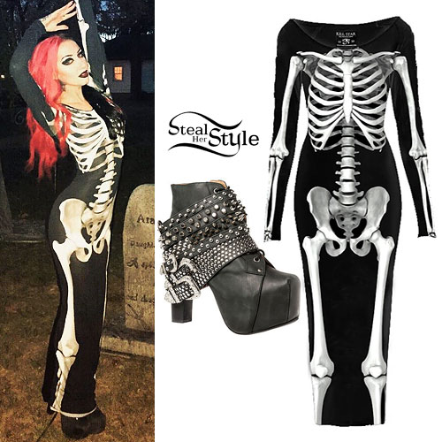 Ash Costello: Skeleton Maxi Dress