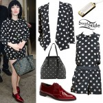 Carly Rae Jepsen: Polka Dot Shorts Suit
