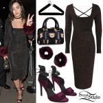 Charli XCX: Sparkle Dress, Fur Cuffs