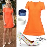 Chloe Lukasiak: Orange Dress, Dot Pumps