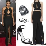 Ciara: Black Cutout Maxi Dress