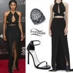 Ciara: Black Cutout Maxi Dress