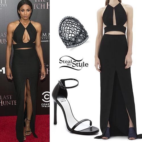 Ciara Black Cutout Maxi Dress Steal Her Style