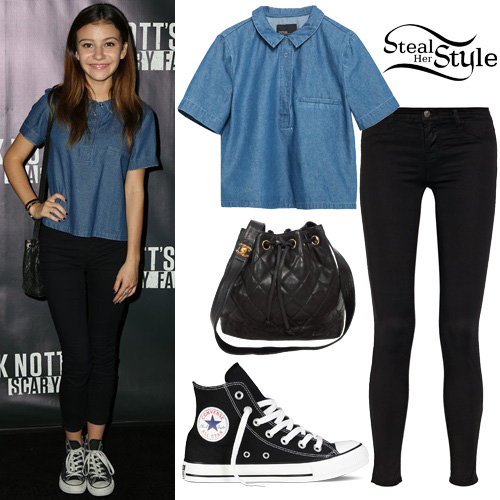 G Hannelius attends the 2015 Knott's Scary Farm Black Carpet Event held in Buena Park. October 1st, 2015 - photo: FameFlynet