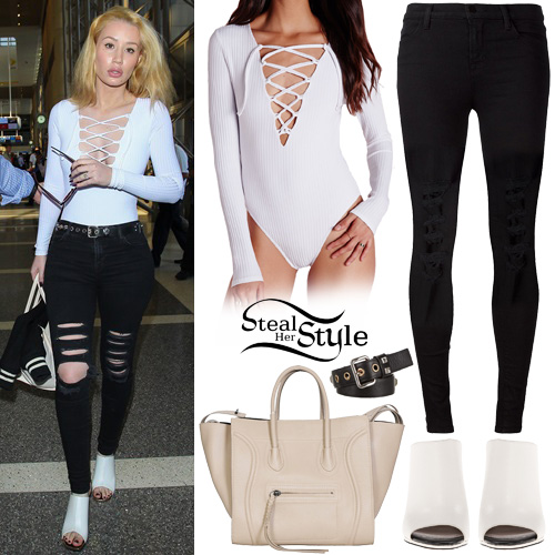 Iggy Azalea arriving at LAX airport in Los Angeles. October 15th, 2015 - photo: AKM-GSI