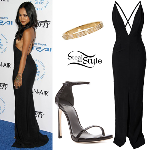 Karrueche Tran at the Autism Speaks to Los Angeles Celebrity Chef Gala. October 8th, 2015 - photo: PacificCoastNews