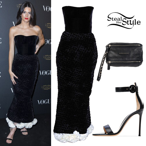 Kendall Jenner at the Vogue 95th Anniversary Party. October 3rd, 2015 - photo: FameFlynet