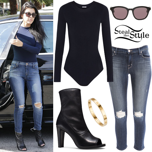Kourtney Kardashian Clothes Outfits Steal Her Style