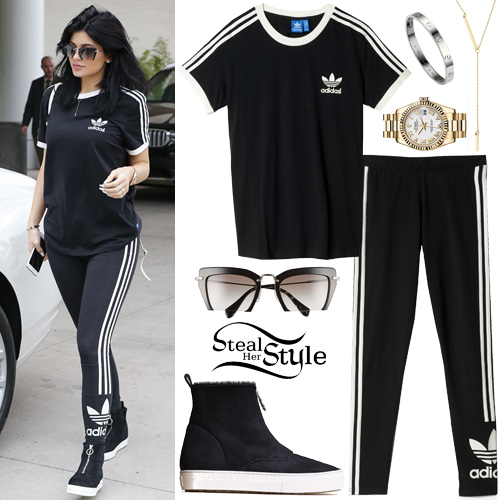 adidas shirt and leggings