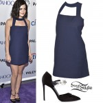 Lucy Hale: Cutout Dress, Pearl Pumps