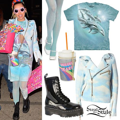 Miley Cyrus: Cloud Jacket, Dolphin Dress
