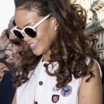 143245, Rihanna arrives at the 'DIOR' store on Avenue Montaigne street in Paris. Paris, France - Saturday October 3, 2015. USA ONLY Photograph: © PacificCoastNews. Los Angeles Office: +1 310.822.0419 sales@pacificcoastnews.com FEE MUST BE AGREED PRIOR TO USAGE