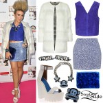Tallia Storm: Fur Coat, Sequin Skirt