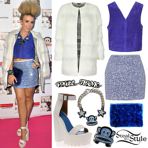 Tallia Storm: Fur Coat, Sequin Skirt