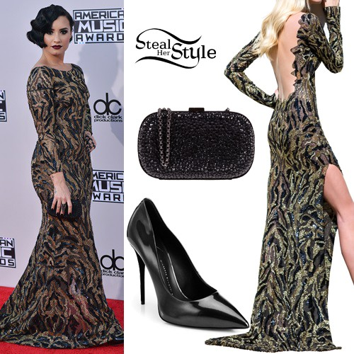 Demi Lovato at the 2015 American Music Awards. November 22th, 2015 - photo: AKM-GSI