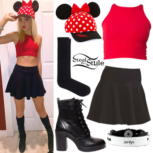 Jordyn Jones: Minnie Mouse Outfit | Steal Her Style