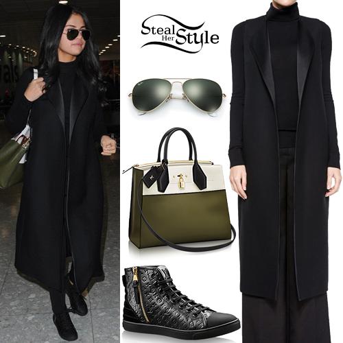 Selena Gomez arriving at Heathrow Airport. November 12th, 2015 - photo: AKM-GSI