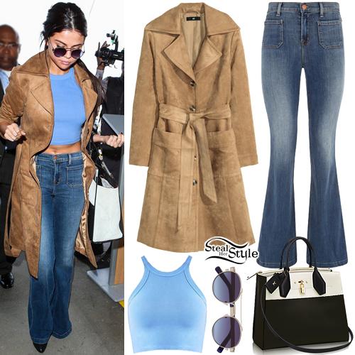 Selena Gomez arriving at LAX Airport. November 24th, 2015 - photo: AKM-GSI