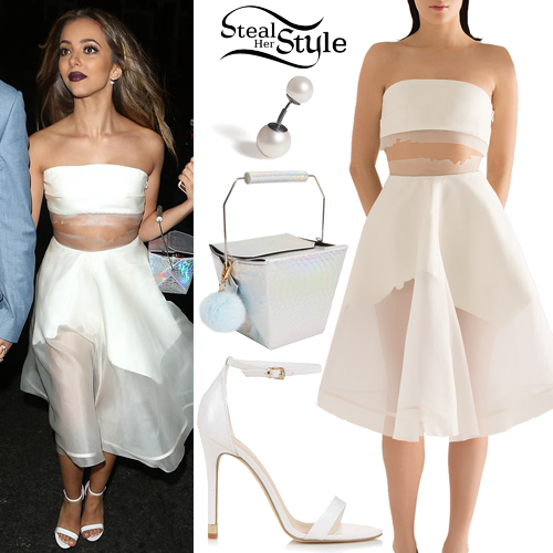 Jade Thirlwall leaving the Cosmopolitan Ultimate Women Of The Year Awards in London. December 2nd, 2015 – photo: AKM-GSI