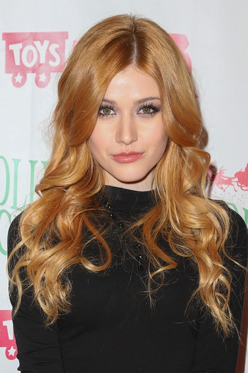 katherine mcnamara wavy ginger barrel curls hairstyle
