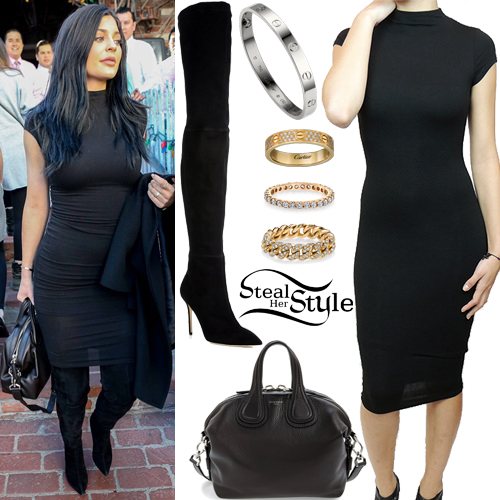 Kylie Jenner leaving Ivy Restaurant in Los Angeles. December 17th, 2015 - photo: PacificCoastNews