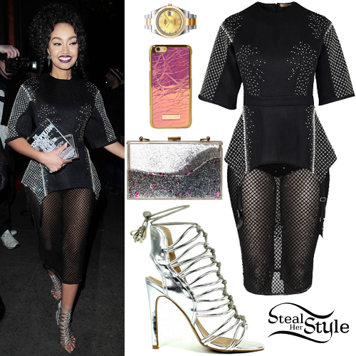 Leigh-Anne Pinnock leaving the Cosmopolitan Ultimate Women Of The Year Awards in London. December 2nd, 2015 - photo: AKM-GSI
