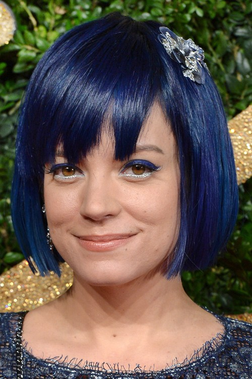 Celebrity Blue Hairstyles Steal Her Style
