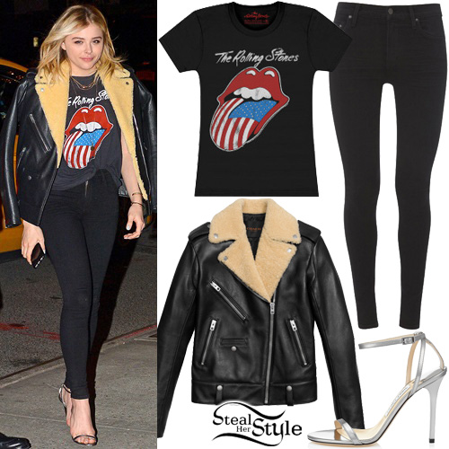 Chloe Moretz out and about in SoHo, New York. January 6th, 2016 - photo: PacificCoastNews