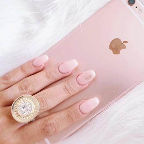 Gabi Demartino Light Pink Nails Steal Her Style