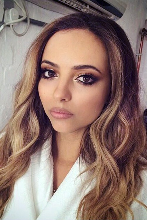 Jade Thirlwall Wavy Light Brown Loose Waves Hairstyle