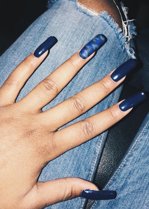 68 Celebrity Navy Blue Nail Polish Photos | Page 3 of 7 | Steal Her ...