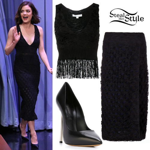 Lucy Hale at the Tonight Show Starring Jimmy Fallon. January 15th, 2016 - photo: NBC Universal