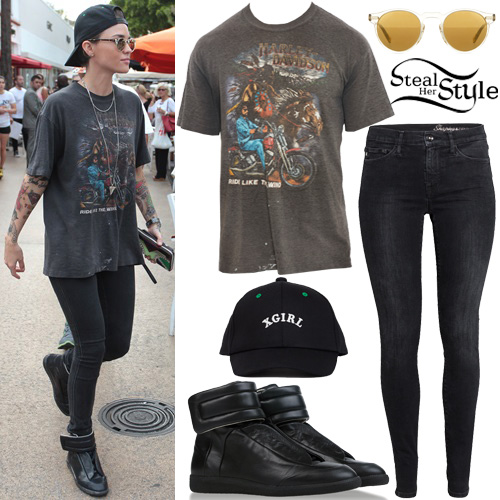 Ruby Rose leaving Sushi Samba in Miami. January 10th, 2016 - photo: PacificCoastNews