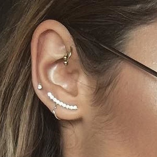 Celebrity Ear Lobe Piercings Steal Her Style