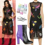 Charli XCX: Insect Print Mesh Dress