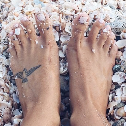 Devin Brugman Bird Foot Tattoo Steal Her Style