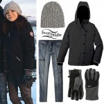 G Hannelius: Down Jacket, Fleece Gloves