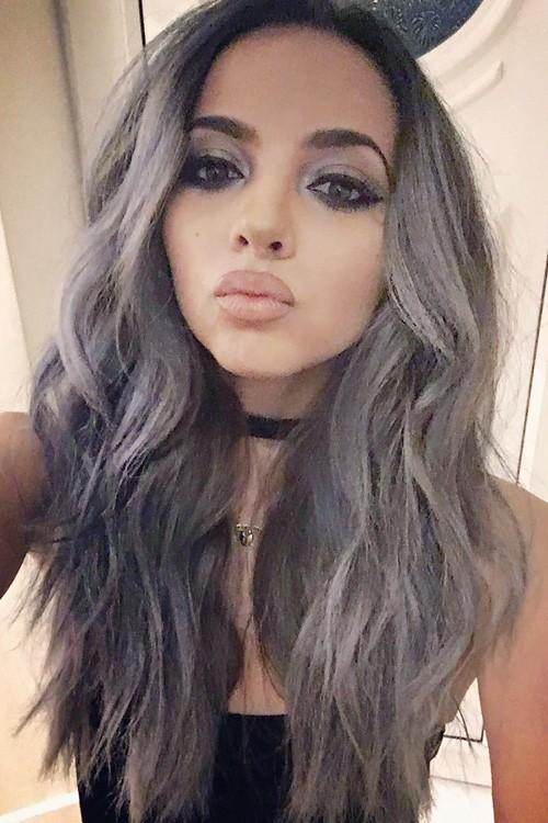 Jade Thirlwall Wavy Silver Angled Loose Waves Hairstyle