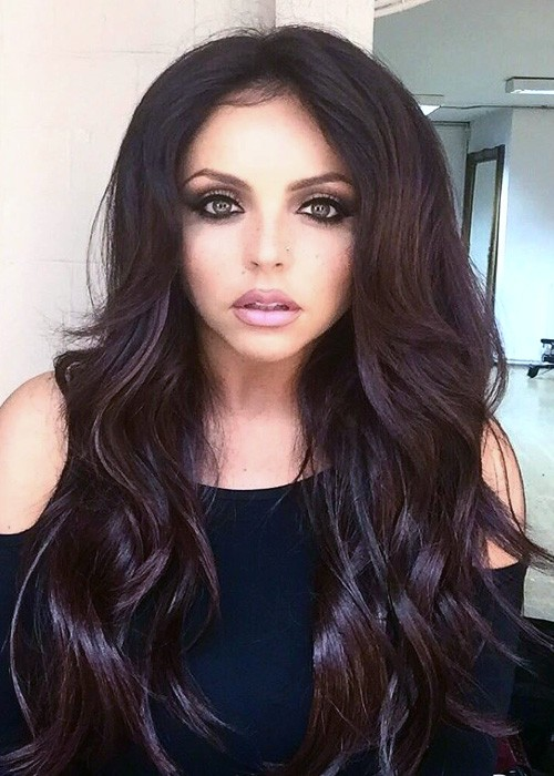 Jesy Nelson Wavy Auburn Long Layers Loose Waves Hairstyle