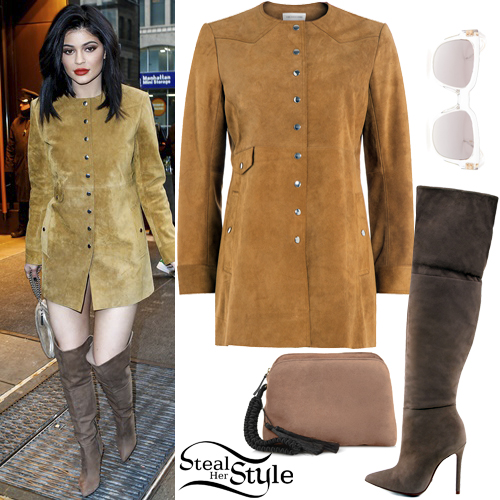 Suede Dress, Knee Boots