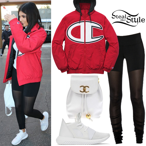 Adidas jacket red and black