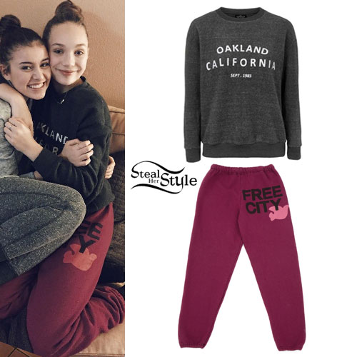 Maddie Ziegler: Oakland Top, Free City Sweats